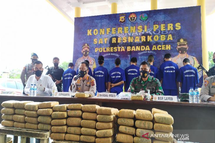 Polresta Banda Aceh tangkap 71 tersangka narkotika selama 2021