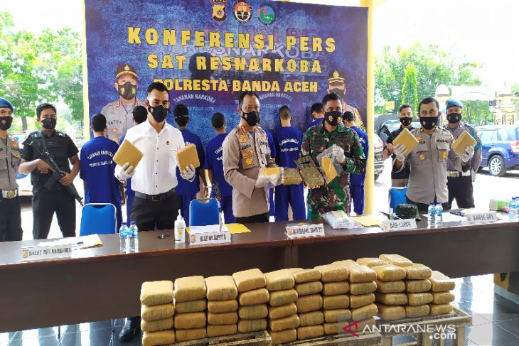 Tim gabungan gagalkan penyelundupan 90 kilogram ganja ke Jakarta
