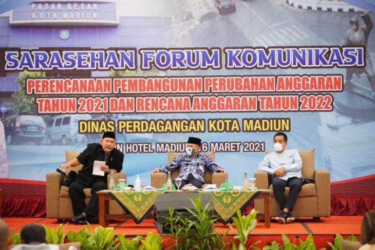 Wali Kota Madiun serap aspirasi pedagang tingkatkan pembangunan ekonomi dan pasar