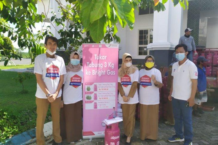 Puluhan ASN Pemprov Kalsel tukarkan tabung LPG