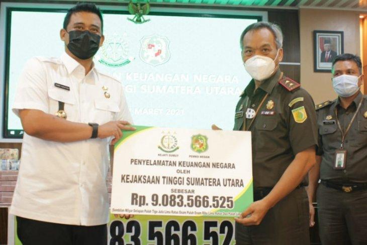 Kejati Sumut selamatkan keuangan  negara sebesar Rp9 miliar