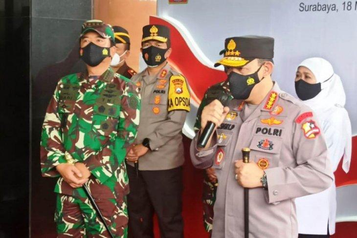 Kapolri dan Panglima TNI ungkap keberhasilan Jatim tekan COVID-19