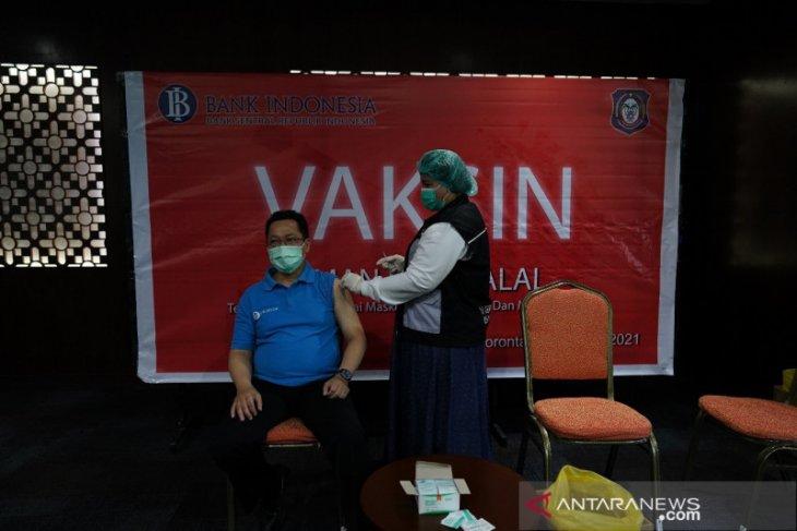 BI gandeng Dinkes Gorontalo lakukan vaksinasi COVID-19 kepada pegawai
