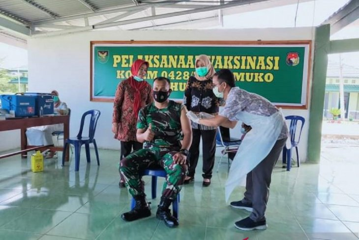 1.550 warga Mukomuko jalani vaksinasi COVID-19 tahap II