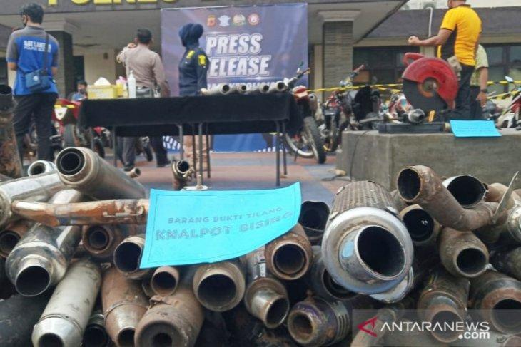 Polres Bogor sita 420 knalpot bising dalam delapan hari operasi