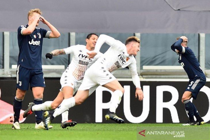 Harapan juara Juventus terancam setelah kalah lawan Benevento
