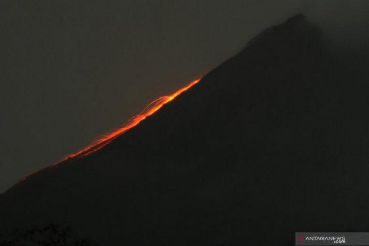 Gunung Merapi 10 kali meluncurkan guguran lava pijar
