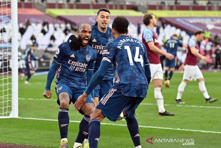 Arsenal bangkit dari ketinggalan tiga gol saat bermain imbang kontra West Ham