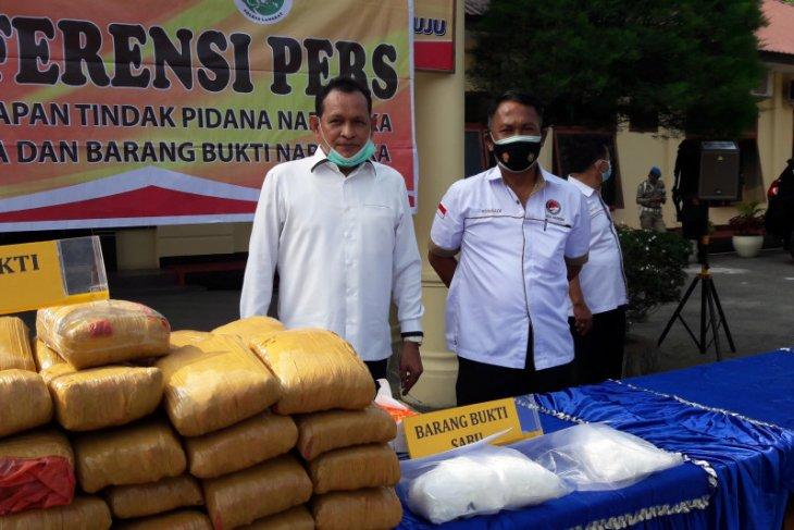 Satresnarkoba Polres Langkat tangkap empat tersangka pemilik 3.000 gram sabu-sabu