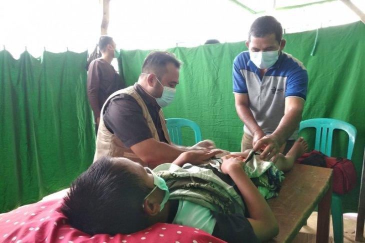 Komunitas sosial di Paser gelar kegiatan di desa tak terjangkau tenaga medis