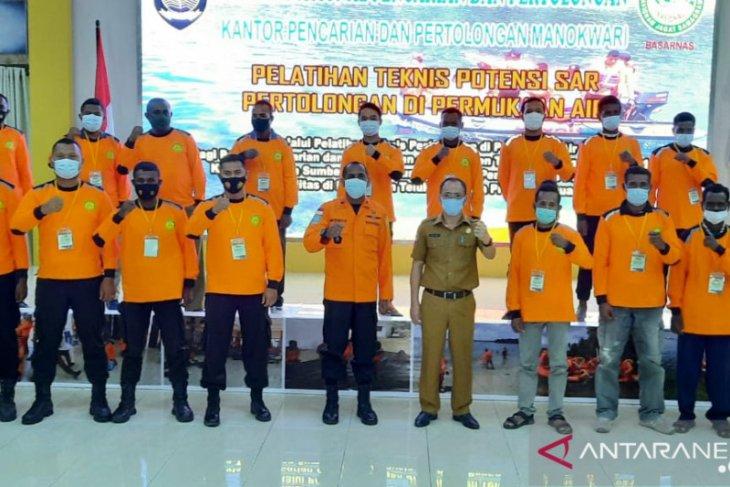 Basarnas latih potensi SAR kabupaten Teluk Wondama