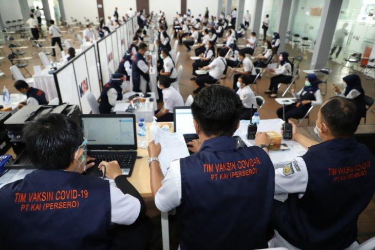 Ribuan pegawai PT KAI vaksinasi massal di  Bandung