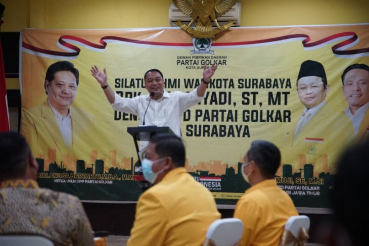 Wali kota dan wawali Surabaya safari politik ke sejumlah partai politik