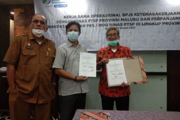 BPJAMSOSTEK - DPMPTSP Maluku perpanjang MoU lindungi tenaga pekerja