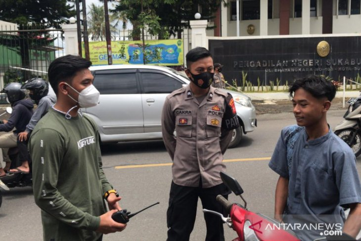 Ratusan pelanggar prokes terjaring  operasi yustisi petugas gabungan Kota Sukabumi