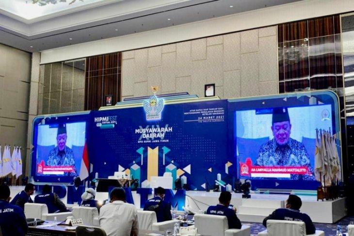 Musda HIPMI Jatim, Ketua DPD paparkan dukungan pemerintah pulihkan ekonomi daerah