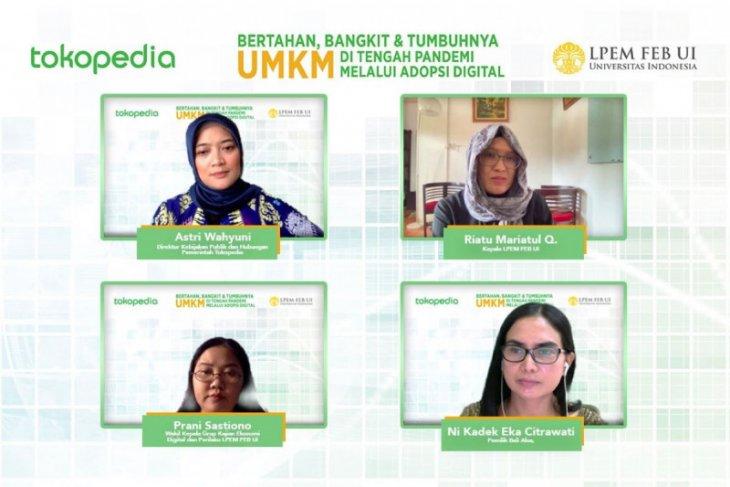Survei UI: Pandemi, volume penjualan pelaku usaha di Tokopedia naik