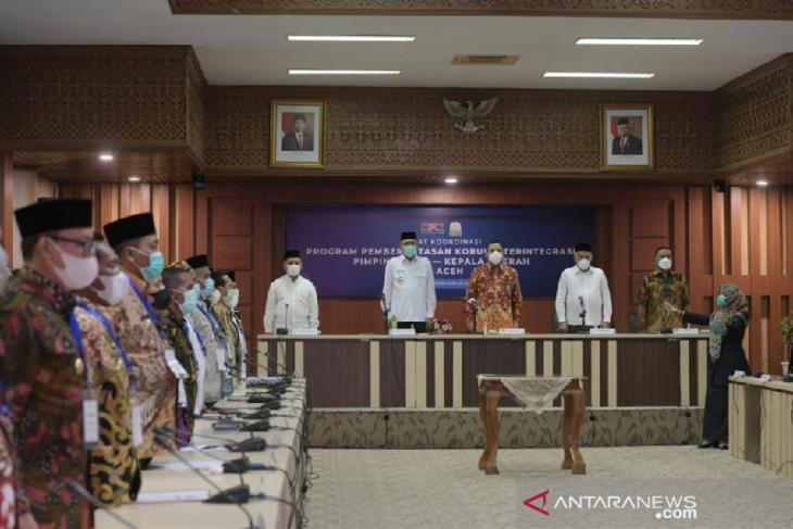 Gubernur Aceh minta bimbingan KPK untuk tingkatkan MCP 2021