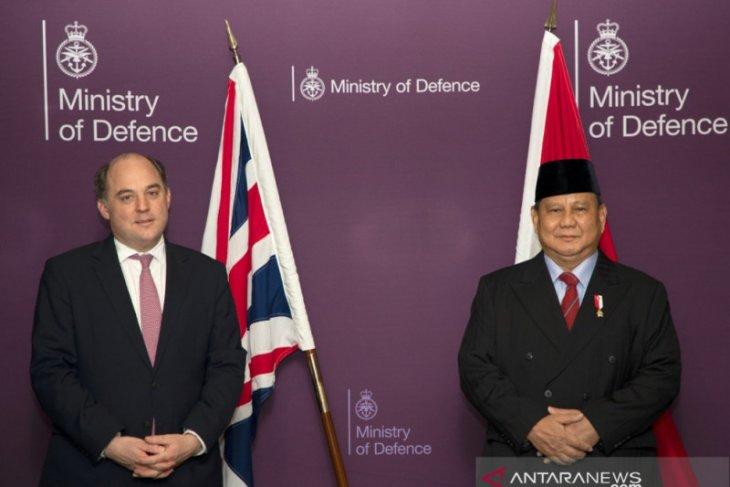 Prabowo Subianto temui Menhan Inggris bahas kerja sama pertahanan