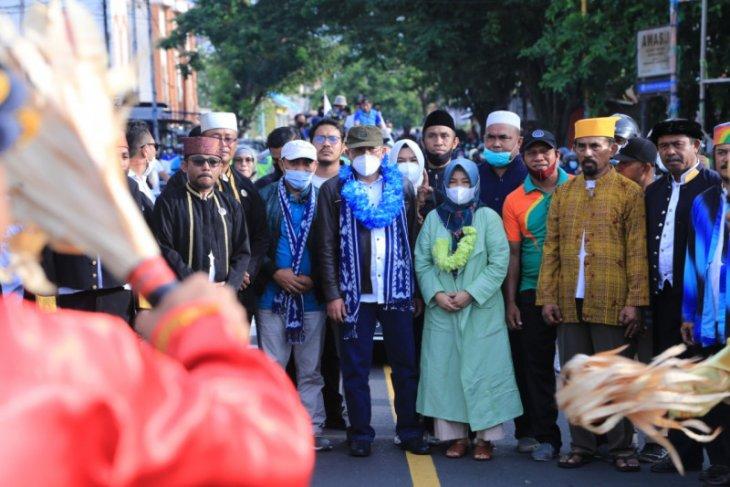 Ribuan pendukung dan simpatisan sambut Wali Kota Ternate