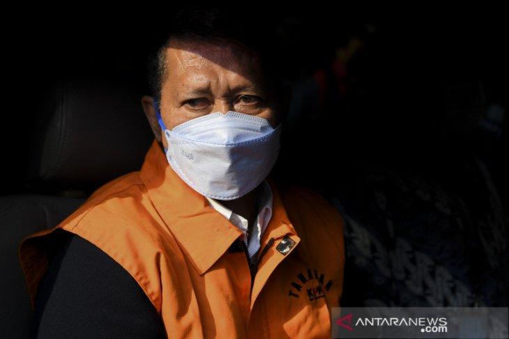 RJ Lino mengaku senang  terkait penahanannya oleh KPK