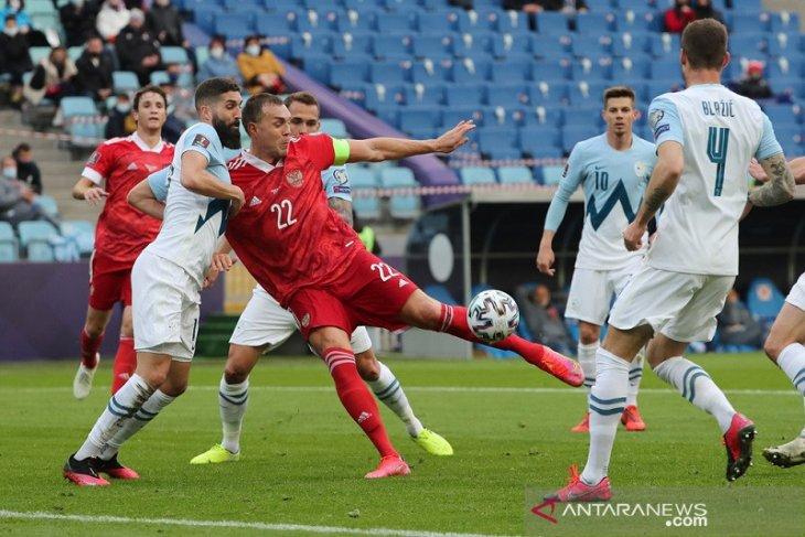 Kualifikasi Piala Dunia, dua gol Artem Dzyuba bawa Rusia menang atas Slovenia