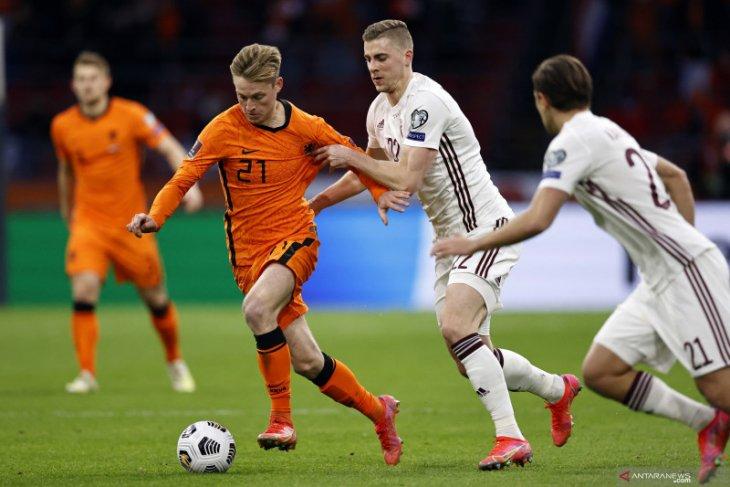 Usai dikalahkan Turki, Belanda tekuk Latvia 2-0