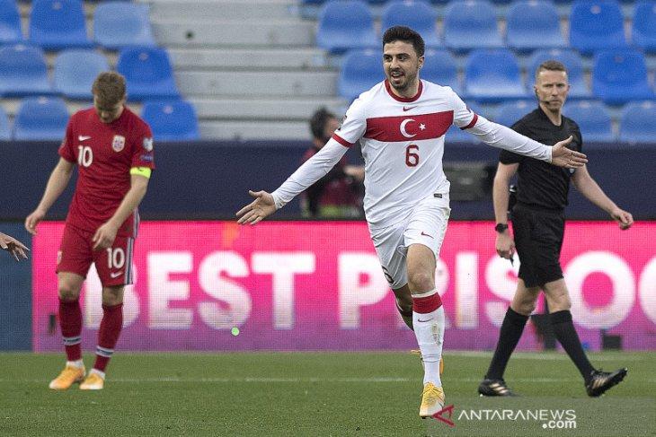 Turki kalahkan Norwegia tiga gol tanpa balas