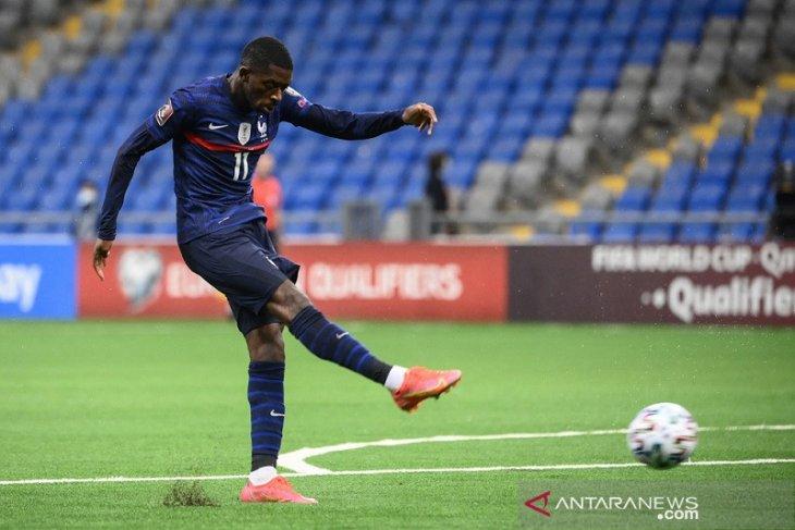 Prancis atasi Kazakhstan, Ousmane Dembele sumbang satu gol