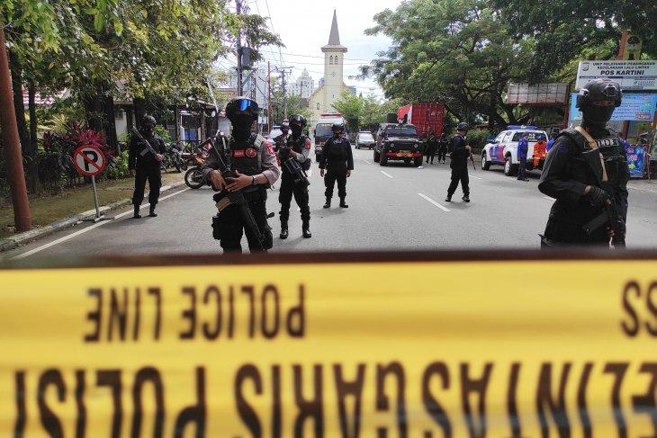 Polisi : Keamanan Gereja Katedral sempat halangi pelaku bom bunuh diri