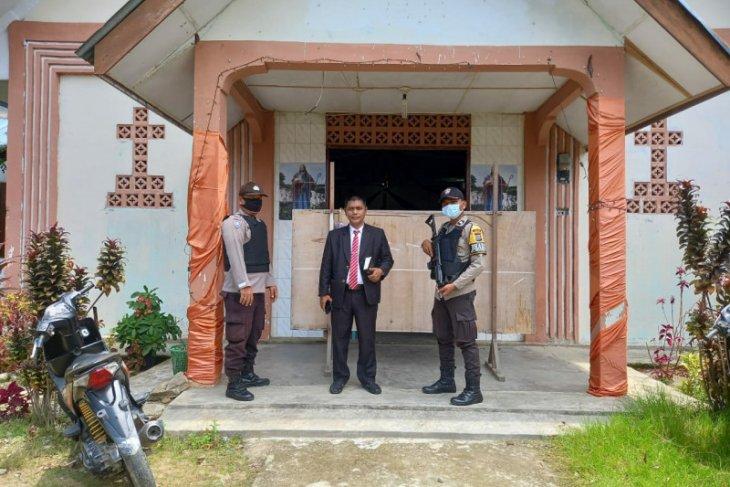 Pengamanan di Mako Polres Tapteng dan gereja diperketat