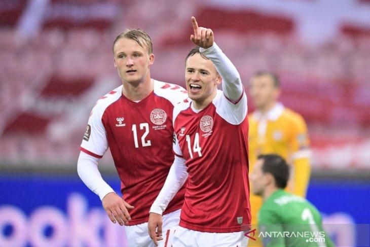 Kualifikasi Piala Dinia 2022: Denmark pesta delapan gol tanpa balas kontra Moldova