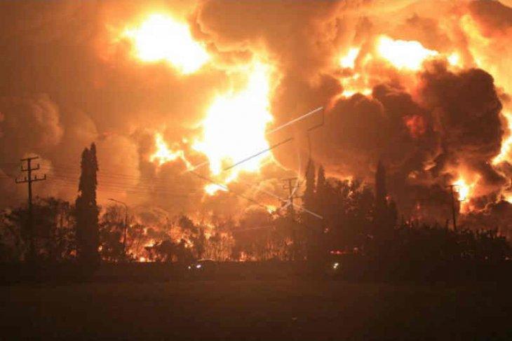 Selain jaga ketat lokasi, Kepolisian Jabar turunkan tim selidiki kebakaran kilang minyak