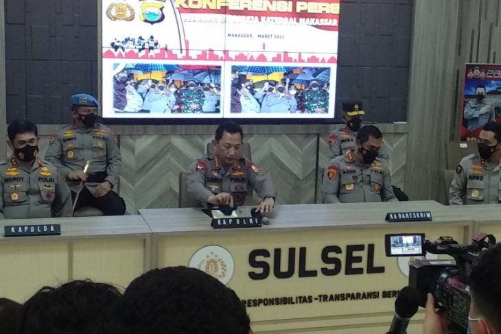 Kapolri : 13 terduga teroris bom Makassar ditangkap di tiga wilayah