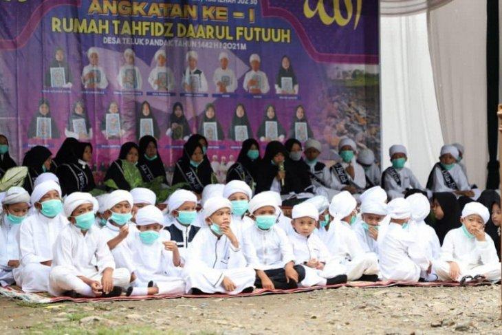 Ujian hafalan Al Quran Juz 30 di Rumah Tahfizh Darul Futuuh Bungo