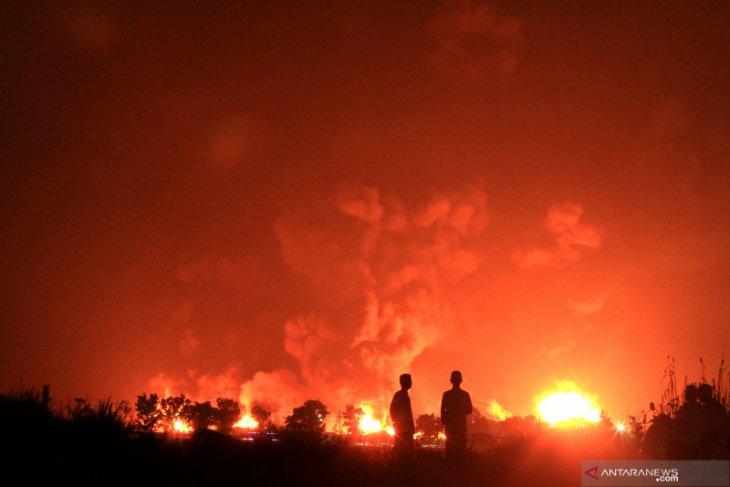 Pertamina: dua tangki terbakar di Kilang Balongan telah padam