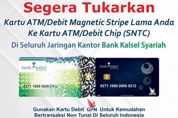 Nasabah Bank Kalsel Syariah diminta gunakan kartu ATM/Debit Chip