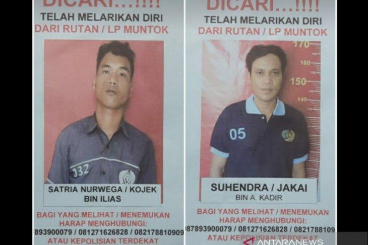 Dua narapidana Rutan Muntok melarikan diri