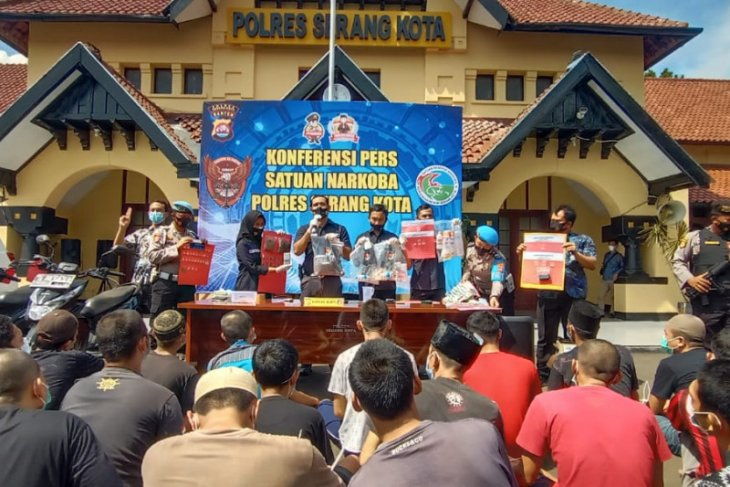 51 tersangka kasus narkoba diamankan Polres Serang Kota