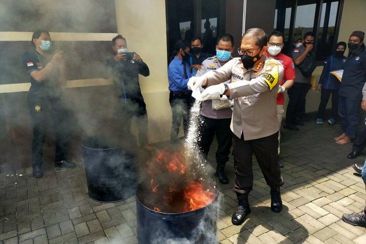 Polresta Sidoarjo musnahkan 6,3 kilogram sabu-sabu