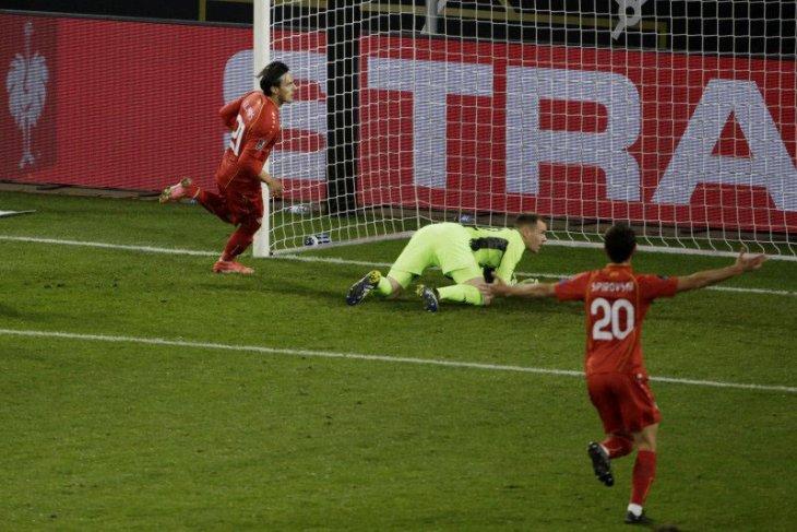 Jerman tumbang 1-2 di tangan Makedonia Utara