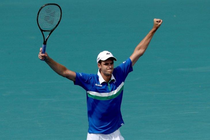 Hurkacz hentikan Tsitsipas di Miami Open