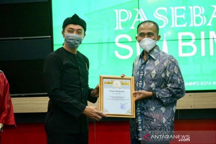 Pemkot Bogor memberikan penghargaan kepada Kepala BNN periode 2017-2020