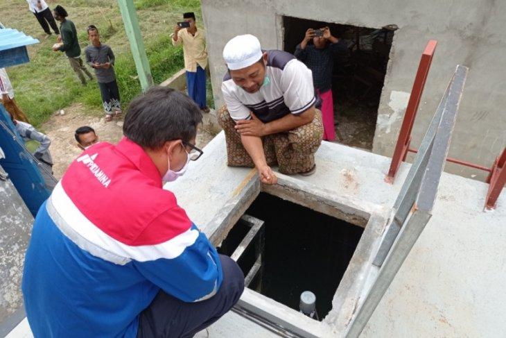 Kini masyarakat Sungai Asam merasakan air bersih bantuan Pertamina