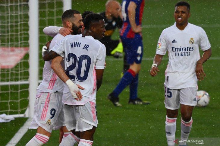 Menang 2-0 atas Eibar, Real Madrid duduki peringkat kedua klasemen