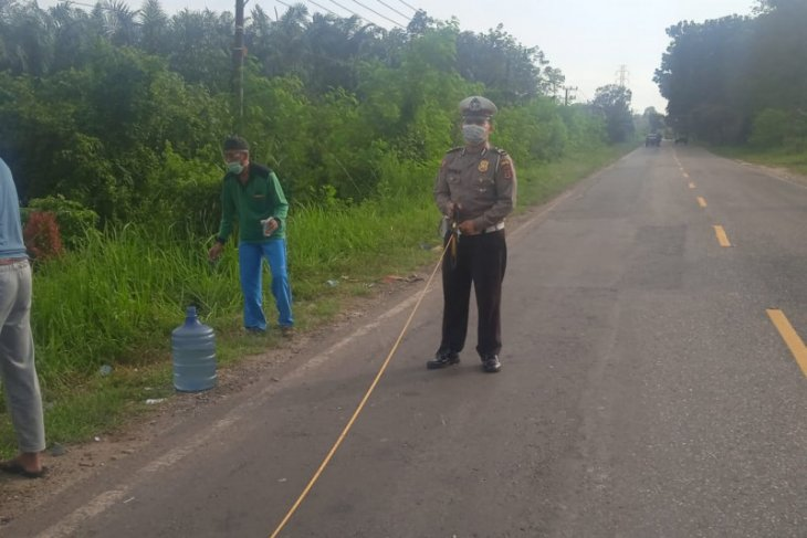 Seorang pemotor tewas tergeletak di jalur lintas tengah Sumatera ruas Jambi- Muarabulian
