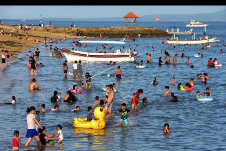 Suasana liburan di Sanur