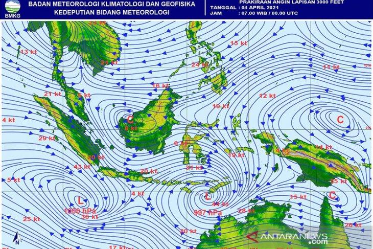 BMKG ingatkan potensi hujan lebat dan angin kencang sejumlah wilayah