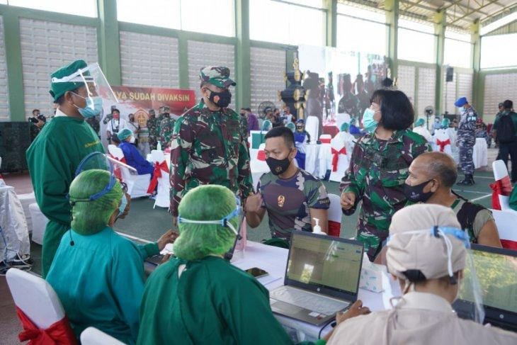 Kakesdam Udayana: Vaksinasi TNI dengan AstraZeneca capai 80 persen