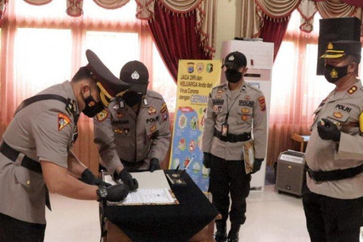 Kapolres Tabalong pimpin sertijab Kabag Ops dan Kasat Intelkam